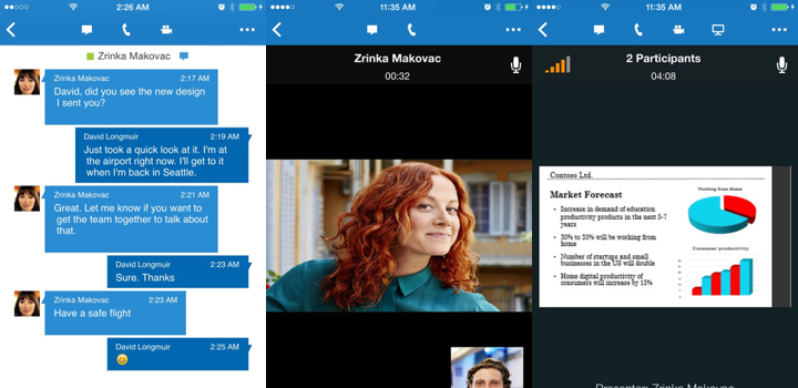 Skype for Business για iPhone